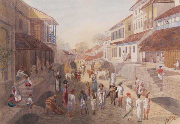 Watercolours in the Environs of Poona, Julius Middleton Boyd, 1880's, 50 x 35 cms