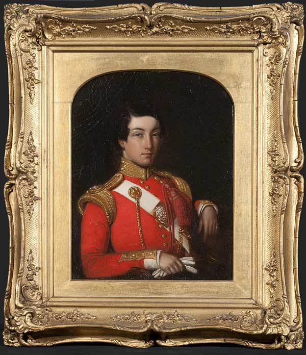 Portrait of William Henry Knight, Attributed to Jeevan Ram, Oil on board, 28 x 18 cms